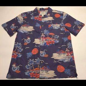 St Johns Bay Mens Medium SS Hawaiian Shirt